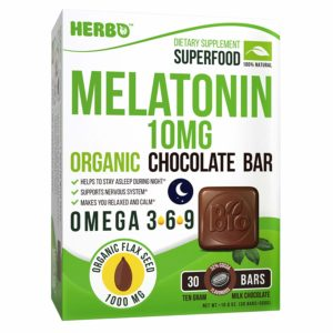 Melatonin 10 mg in Organic Milk Chocolate