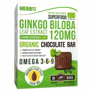 Ginkgo Biloba Leaf Extract in Milk Chocolate