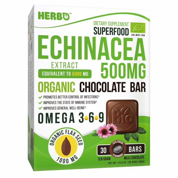 Echinacea 500 mg, (Milk Chocolate)