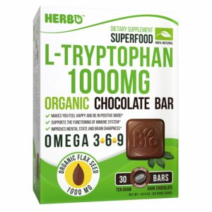 L-Tryptophan 1000 mg in Organic Dark Chocolate