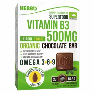 Vitamin B3 500 mg Niacin in Dark Chocolate