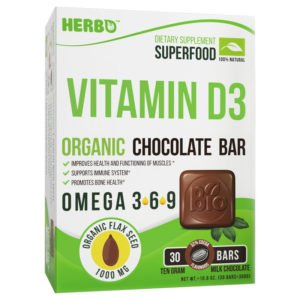 Vitamin D3, Cholecalciferol in Chocolate